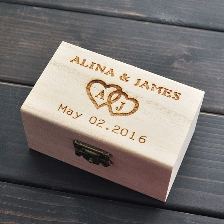Rustic Wedding Ring Bearer Box, Personalized Wedding Ring Box, Wedding Decor, Wooden ring holder box, Customized Wedding Gifts
