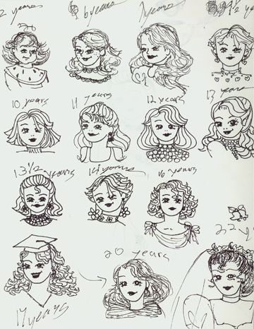 How To Sketch Curly Hair Google Search Paper Doll
