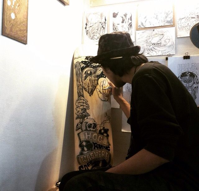 ARTWORK. // skateboarding // manual drawing