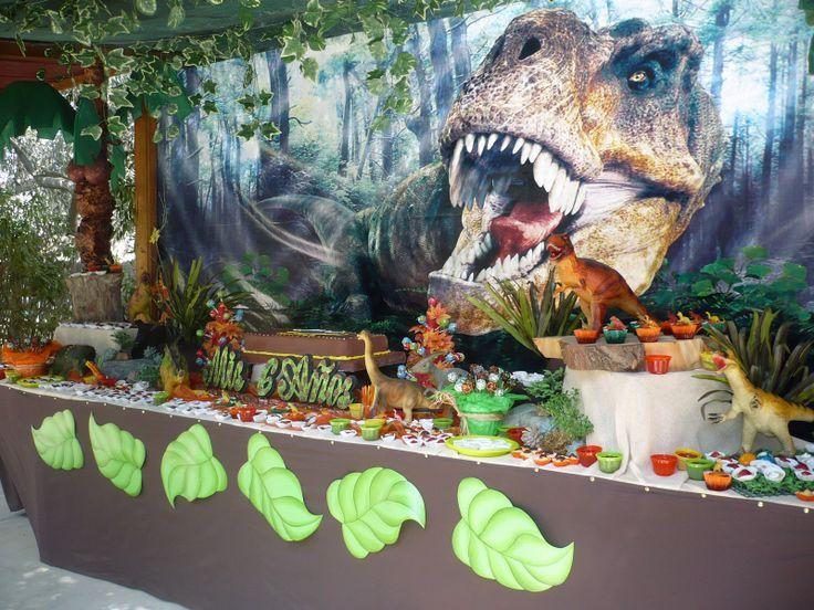 decoracin temtica de dinosaurios para fiesta infantil