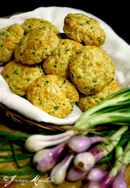 CHEDDAR AND GREEN ONION BISCUITS  .