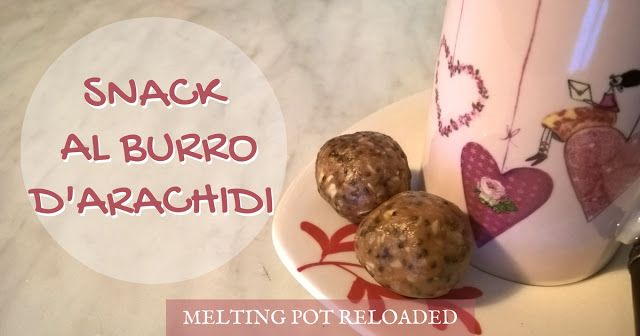 Snack al Burro d'arachidi - PB energy bites