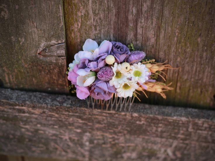 peineta flores de Magaela por DaWanda.com