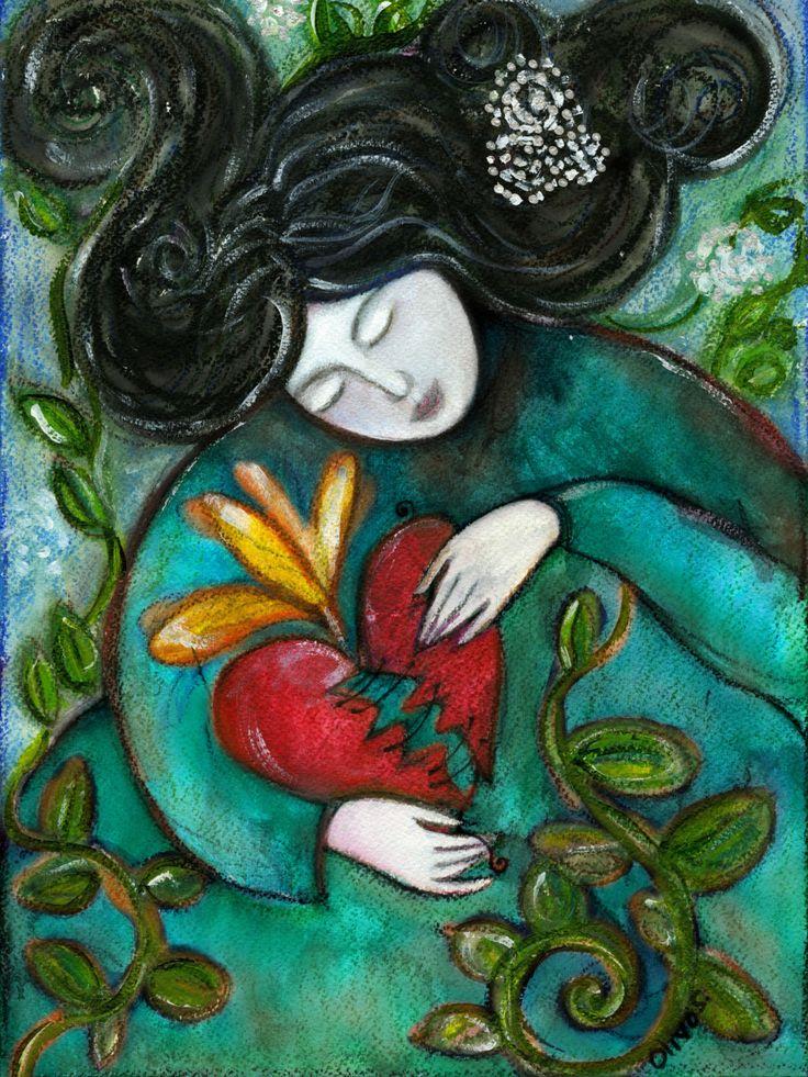 motivational gifts for women - Mending a broken heart - motivational gift - gift for women - inspirational gift - gift for her - Boho by OlivosARTstudio on Etsy