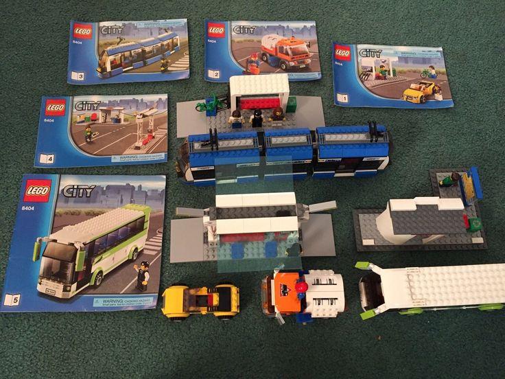 LEGO City Public Transport Station (8404) CITY 100% Complete w/ instructions