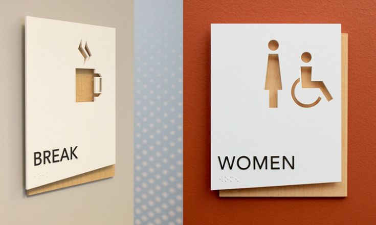 VDTA's team also created a system of dimensional room identification signs.