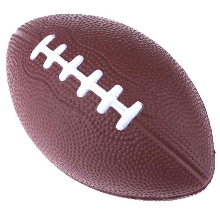 Mini Padrão Macio Da Espuma do PLUTÔNIO de Futebol Americano De Rugby Futebol Bola Squeeze Para Adultos Crianças Presente de Natal Aniversário Futebol & Rugby
