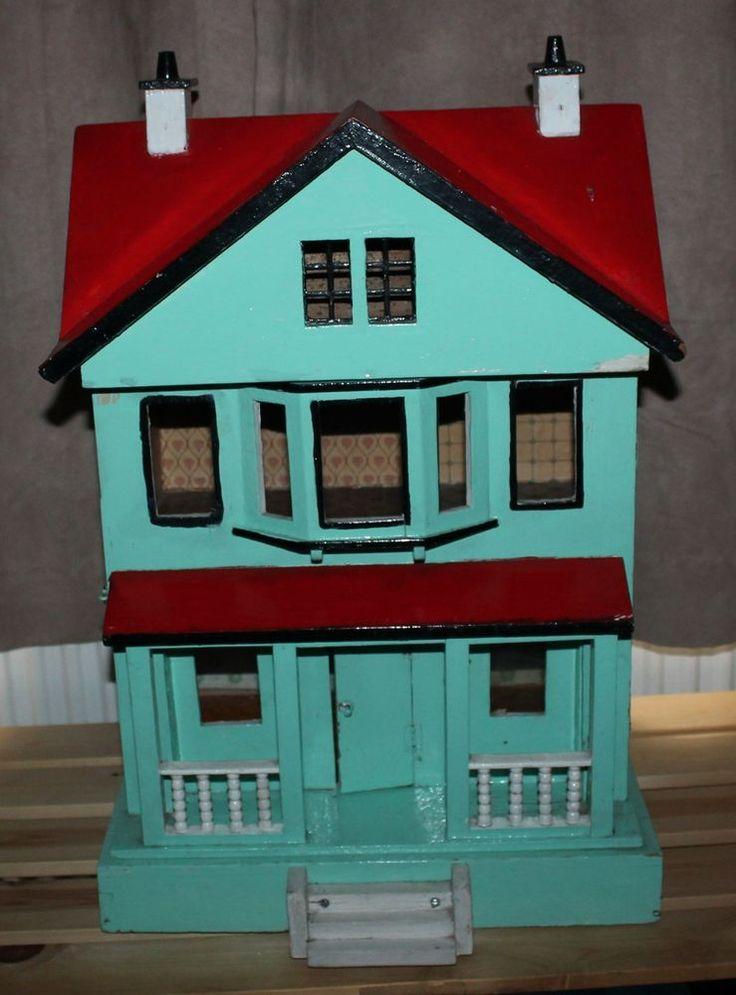 Vintage Dolls House Red Roof Moritz Gottschalk