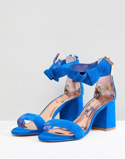 a8532f84a7 Ted Baker Kerrias Blue Suede Cobalt Block Heel Sandal | In home ...