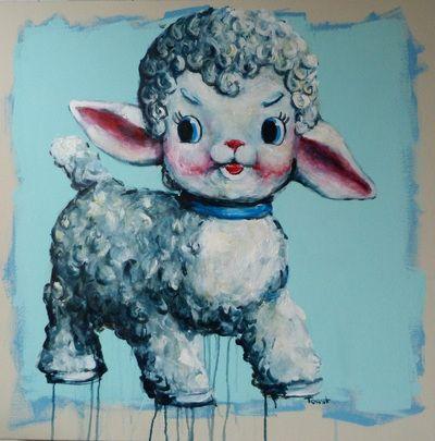 Still life with squeaky lamb 75cm x 75cm seabastion toast