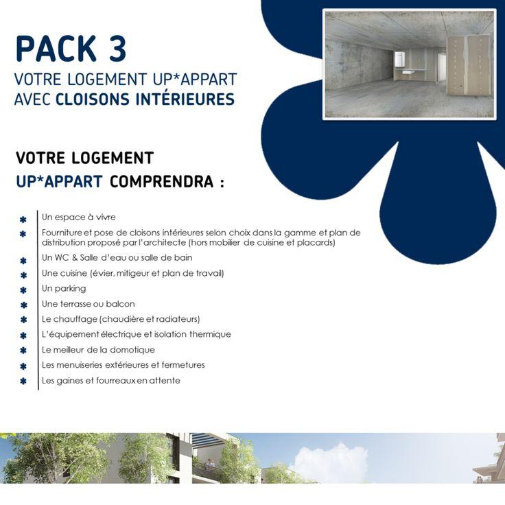 Pack 3 : Votre logement UP*APPART avec cloisons intérieures