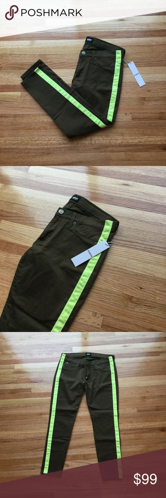 Hudson loulou tuxedo pants size 28 Hudson loulou tuxedo pants. Size 28. Forest green with lime green strips on the sides. New with tags. Hudson Pants