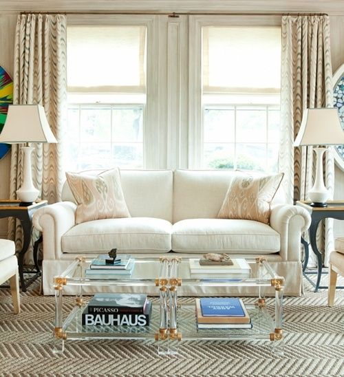 Superior In Good Taste: Leta Austin Foster.lucite And Brass Coffee Tables