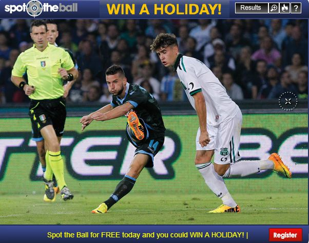 Spot The Ball  - FREE to enter with a chance to win a holiday...