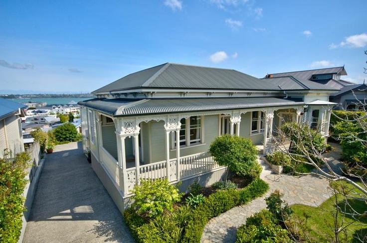 Outside of beautiful 6 bed refurb'ed villa @ Calliope Rd Devonport. 2.7 million NZD. (Dec 2012)