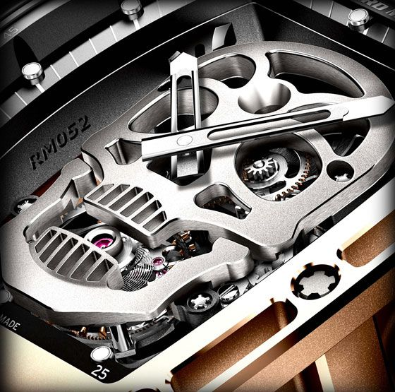 Richard Mille's RM 052 Skullis a limited edition of 21 watches, introduced at SIHH 2012. The watch had a price of $500,000 when it was first announced