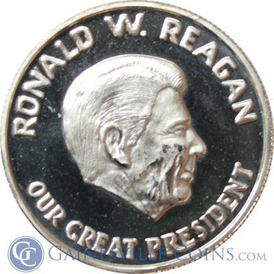 Ronald Reagan 1 Oz Proof Silver Our Great President Series