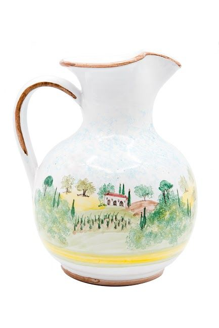 Lovely water jug - #Toscana pattern by Antonella - www.sbigoliterrecotte.it