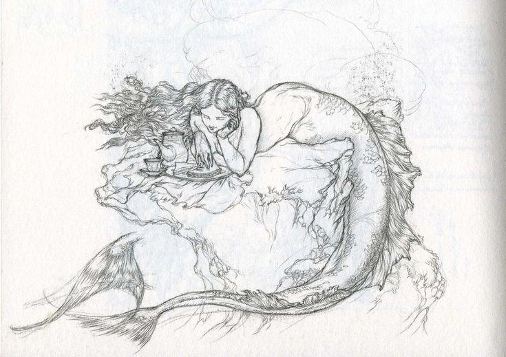 Sandwich-Eating Mermaid by *Himmapaan on deviantART
