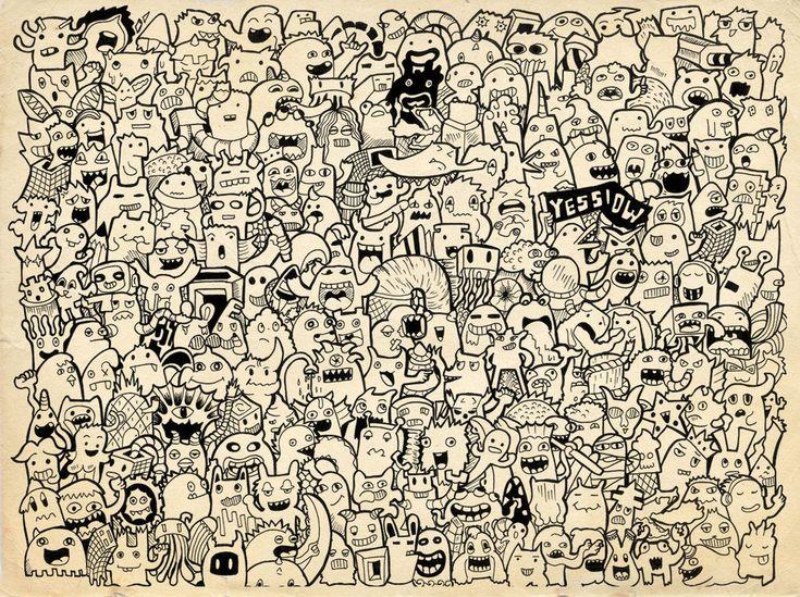 Doodle 225 monster on doodle art by for Doodle art monster