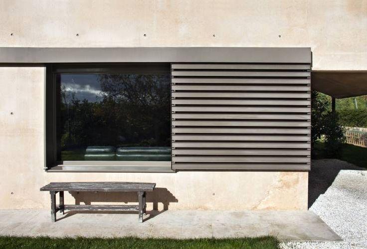 Casa de campo en Ancín. Mirador: Puertas y ventanas de estilo Minimalista de Ignacio Quemada Arquitectos