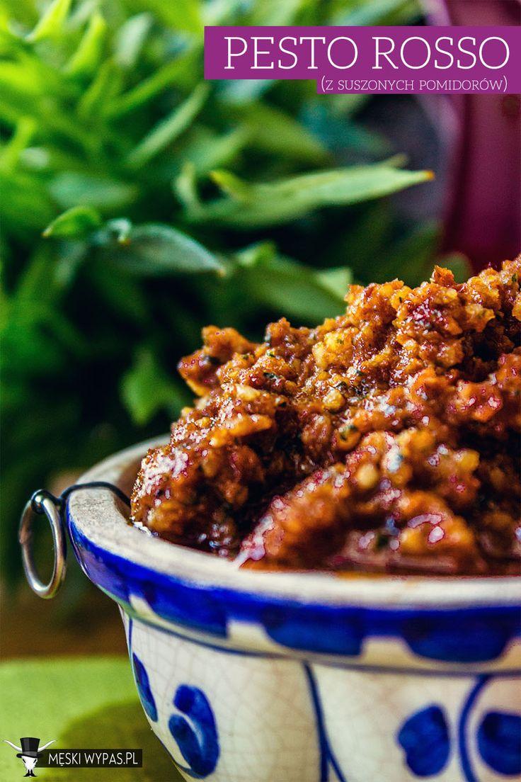 Przepis na domowe pesto rosso, czyli czerwone pesto z suszonych pomidorów #pyszne