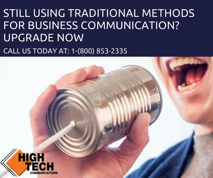 Upgrade Your Business Communications Today! Still using traditional methods of communication for your business? We at High Tech Communications provide you with the best unified communication solutions across the GTA and Ontario. Call us at: 1-(800) 853-2335