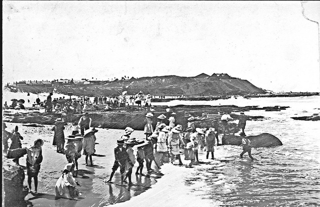 Newcastle South Beach Newcastle NSW, [c1900s] by Cultural Collections, University of Newcastle, via Flickr
