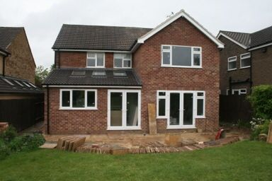 A single and two storey rear extension on a house in Duffield.