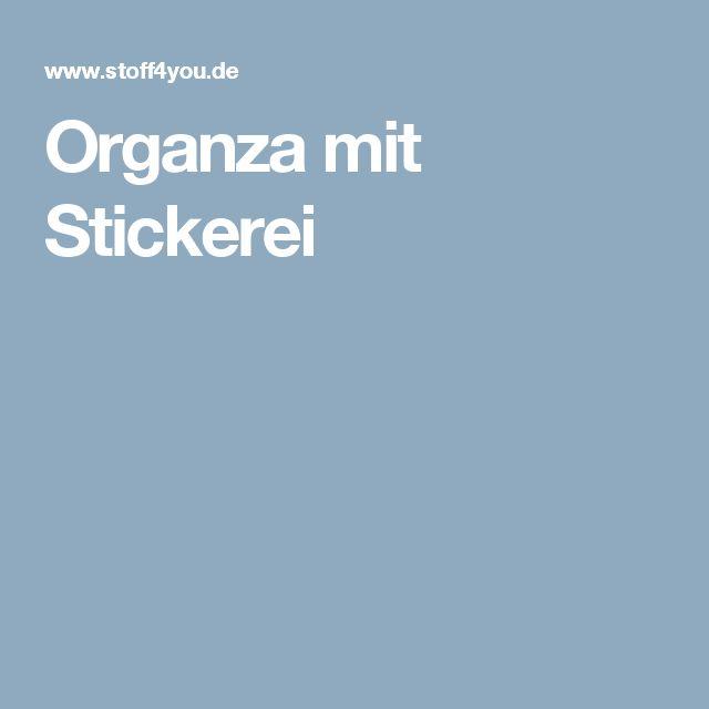 Organza mit Stickerei