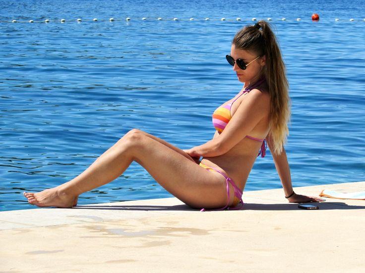 My swimwear in Croatia - plavky a plažové outfity v Chorvátsku - meditácia na vode