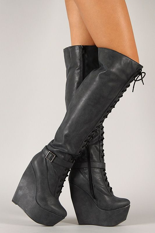 best 25 lace up wedge boots ideas on lace up