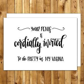 Naughty Birthday Card. Card For Boyfriend. Card For Him. For Husband. Dirty Cards. Your Penis Is Cordially Invited Greeting Card