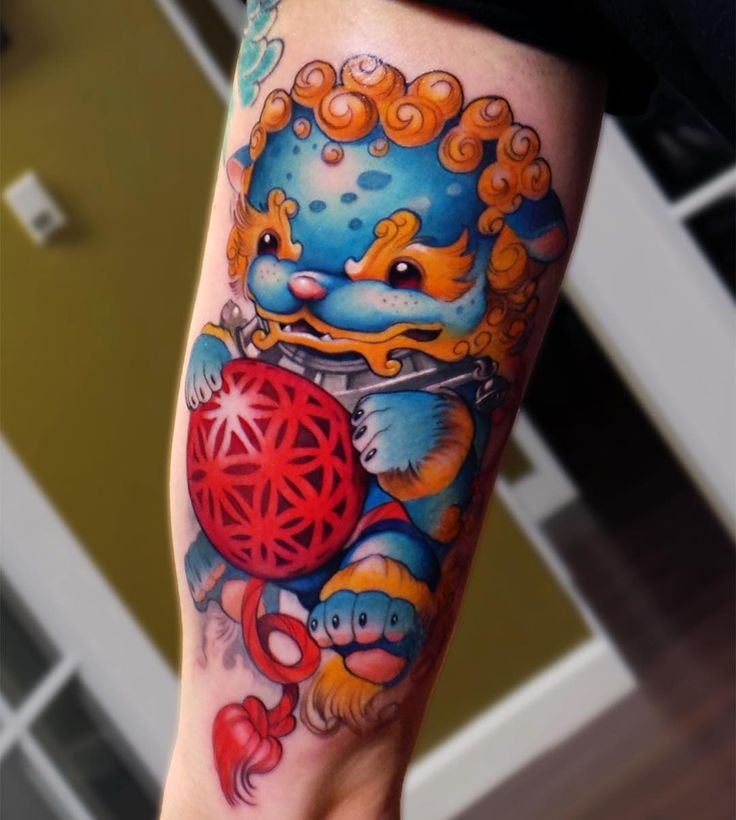 """Lil baby foo dog Thanks again Alexa! Thanks for looking. Done with @fkirons @hushanesthetic @eternalink @reddaggertattoo @republictattoosupply #foodog…"""
