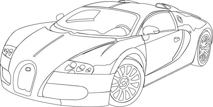 Drawing With No Lines : Bugatti drawings in pencil cool drawn concept car