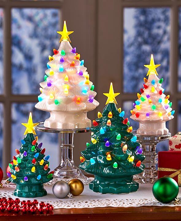 Ltd Commodities Christmas 2019 Retro Lighted Tabletop Christmas Trees | Christmas 2019 | Navidad
