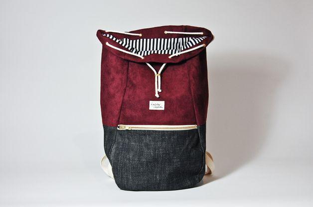 Rucksäcke - RUCKSACK TASCHE BORDEAUX // FASHION BACKPACK BAG - ein Designerstück von Kaliber bei DaWanda