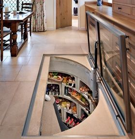Wine/preserves/cheese/salumi cellar from Spiral Cellars…I would make a secret entrance in my home so I didn't have to share!