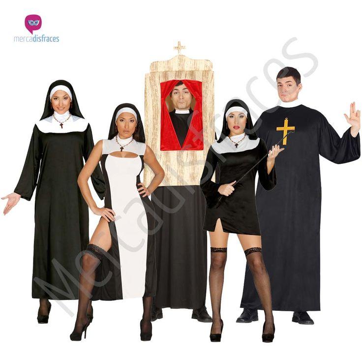 #disfraces de #curas y #monjas perfectos para tus fiestas de #carnaval #disfraces para #grupos y #comparsas en mercadisfraces tu tienda de #disfraces #online