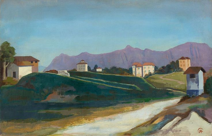 Karl Hofer (German, 1878-1955), Weg nach Lugano [Road to Lugano], 1926. Oil on canvas, 65 × 100.5 cm.