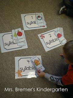 Activité compter les syllabes  Classer les mots selon leurs nombres de syllabes