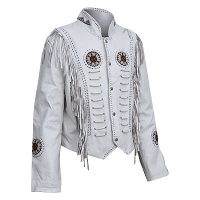 The White Buffalo Waist Fringed Lambskin Jacket