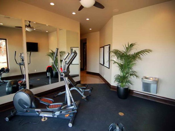 Attractive Home Workout room Idea: Awesome Cool Adorable Wonderful Creative  Home Workout Room Idea With