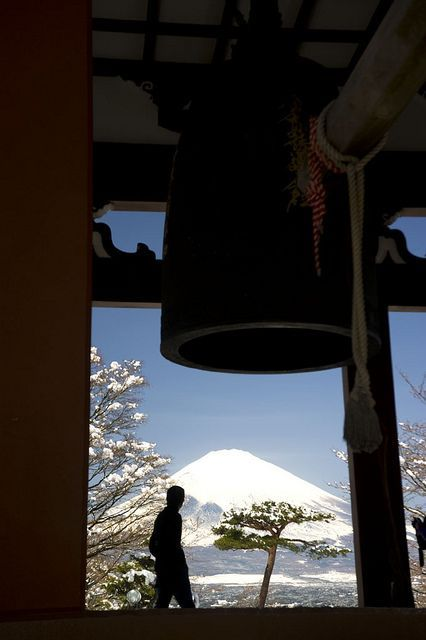 A view of Mt. Fuji from Hakone Peace Park in Japan via flickr: