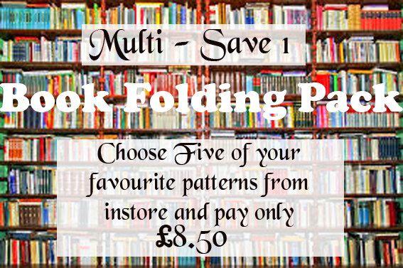 Book Folding Business Booster Pack. Beginner's Book Folding Pack. by AnnaMarieBookArt