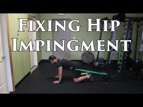 How To FIX Frontal Hip Pain   Femoral Acetabular Impingement - YouTube