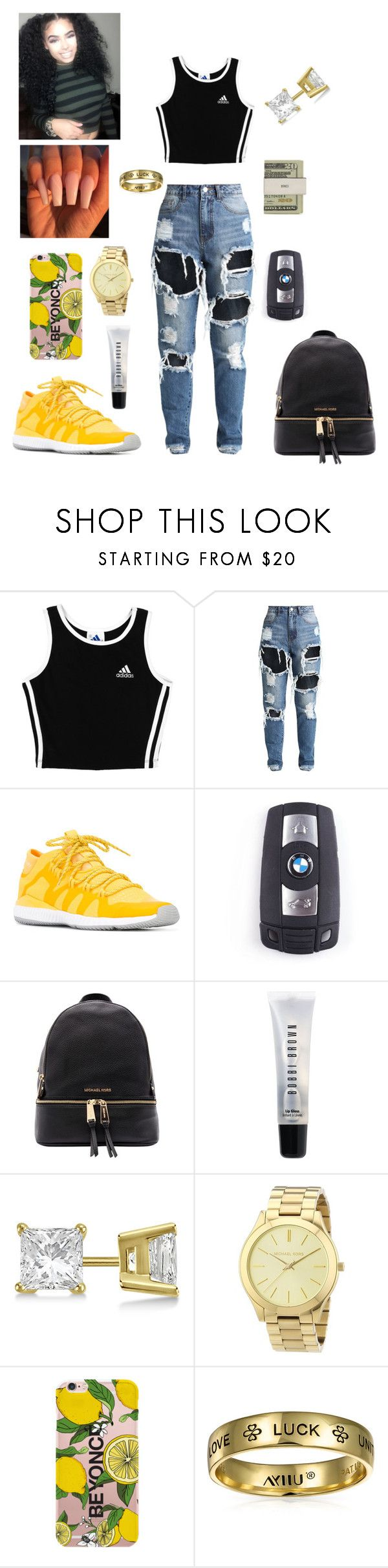 """""""#BAE❤️"""" by prxncessm ❤ liked on Polyvore featuring adidas, BMW, Michael Kors, Bobbi Brown Cosmetics, Jack Spade, Allurez and Bling Jewelry"""
