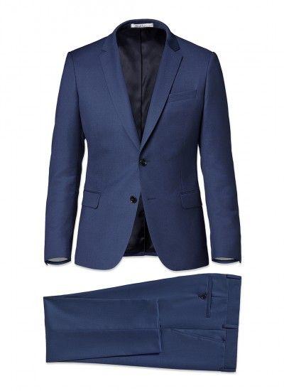 Costume homme en laine super 140's aaaaa : achetez votre costume slim fit bleu minéral 16hc3ilya-i512/32 et découvrez toute la collection de costumes De Fursac.