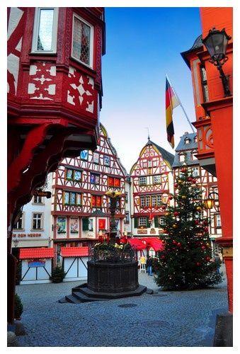 Christmas Village in Bernkastel, Germany