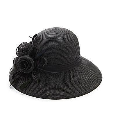 Kate Landry Mesh Flower Dress Hat. Dillards aac4fe3fc51